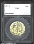 Additional Certified Coins: , 1941-S 50C MS65 SEGS (MS64). A lustrous Half Dollar with ...
