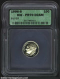 Proof Roosevelt Dimes: , 1996-S 10C Silver PR 70 Deep Cameo ICG. ...