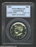 Proof Kennedy Half Dollars: , 1964 50C Accented Hair PR 63 Cameo PCGS. ...