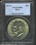 Eisenhower Dollars: , 1971-S $1 Silver MS64 PCGS. ...
