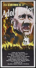 "Movie Posters:Documentary, The Crimes of Adolph Hitler (MGM, R-1960s). Three Sheet (41"" X 81""). Documentary. Directed by Paul Rotha. Light edge wear wi..."
