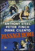 "Movie Posters:Drama, Passage Home (Rank, 1955). British One Sheet (27"" X 40""). Drama. Starring Anthony Steel, Peter Finch, Diane Cilento and Patr..."