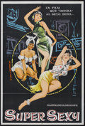 """Movie Posters:Sexploitation, Super Sexy (Unknown, 1960s). Argentinian One Sheet (29"""" X 43"""").Sexploitation. Very light edge wear. A few scratches in the ..."""