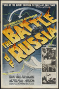 "Movie Posters:War, The Battle of Russia (20th Century Fox, 1943). One Sheet (27"" X41""). War Documentary. Directed by Frank Capra and Anatole L..."
