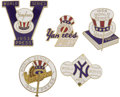 "Baseball Collectibles:Others, 1950's World Series Press Pins Lot of 5 (New York Yankees). TheMantle years! Magical assortment remembers the ""Happy Days..."