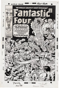 Jack Kirby and Joe Sinnott - Fantastic Four #100 Cover Original Art (Marvel, 1970)