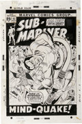 Original Comic Art:Covers, Gil Kane and Frank Giacoia - Sub-Mariner #43 Cover Original Art(Marvel, 1971). ...