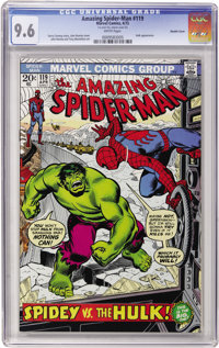 The Amazing Spider-Man #119 Double Cover (Marvel, 1973) CGC NM+ 9.6 White pages