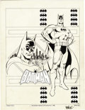 Original Comic Art:Splash Pages, Jose Garcia-Lopez - Batman Splash Page Original Art (DC, 1982)....