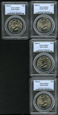 Kennedy Half Dollars: , (4)2005-D 50C Satin Finish MS67 PCGS.... (Total: 4 Coins)