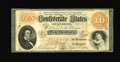 Confederate Notes:1861 Issues, T24 $10 1861. This is a gorgeous example of this type, with great color to go along with a complete frameline. Our consigno...