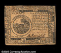 Colonial Notes:Continental Congress Issues, Continental Currency May 10, 1775 $6 Choice Very Fine. ...