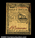 Colonial Notes:Continental Congress Issues, Continental Currency February 17, 1776 $1/2 New. What ...