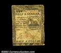 Colonial Notes:Continental Congress Issues, Continental Currency February 17, 1776 $1/2 Fine. Well ...