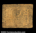 Colonial Notes:Continental Congress Issues, Continental Currency February 17, 1776 $2/3 Fine. Heavily ...