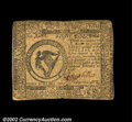 Colonial Notes:Continental Congress Issues, Continental Currency February 17, 1776 $8 Very Fine. A ...
