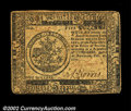 Colonial Notes:Continental Congress Issues, Continental Currency February 26, 1777 $5 Extremely Fine. ...