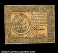 Colonial Notes:Continental Congress Issues, Continental Currency April 11, 1778 $5 Choice Very Fine. A ...