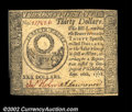 Colonial Notes:Continental Congress Issues, Continental Currency September 26, 1778 $30 Choice New. ...