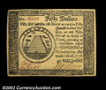 Colonial Notes:Continental Congress Issues, Continental Currency September 26, 1778 $50 Gem New. Well ...