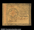 Colonial Notes:Continental Congress Issues, Continental Currency January 14, 1779 $3 About New. ...