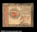 Colonial Notes:Continental Congress Issues, Continental Currency January 14, 1779 $4 Gem New. A lovely ...