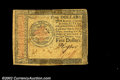 Colonial Notes:Continental Congress Issues, Continental Currency January 14, 1779 $5 Very Fine. A nice,...