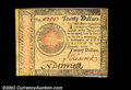 Colonial Notes:Continental Congress Issues, Continental Currency January 14, 1779 $20 Choice Extremely ...