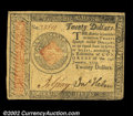 Colonial Notes:Continental Congress Issues, Continental Currency January 14, 1779 $20 Choice Very Fine....