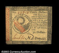 Colonial Notes:Continental Congress Issues, Continental Currency January 14, 1779 $30 Choice New. The ...
