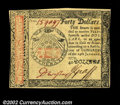 Colonial Notes:Continental Congress Issues, Continental Currency January 14, 1779 $40 Gem New. This is ...