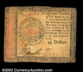 Colonial Notes:Continental Congress Issues, Continental Currency January 14, 1779 $45 Very Fine. Solid ...