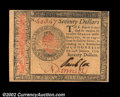 Colonial Notes:Continental Congress Issues, Continental Currency January 14, 1779 $70 Superb Gem New. ...
