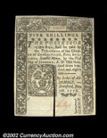 Colonial Notes:Connecticut, Connecticut June 7, 1776 5s Gem New, Canceled. Slit-...