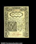 Colonial Notes:Connecticut, Connecticut June 19, 1776 6d Very Choice New. This slash-...