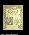 Colonial Notes:Connecticut, Connecticut June 19, 1776 6d Choice New. A lovely piece, ...