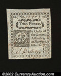 Colonial Notes:Connecticut, Connecticut October 11, 1777 2d Canceled Gem New. A real ...