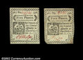 Colonial Notes:Connecticut, Connecticut October 11, 1777 5d About New. Two identical ...