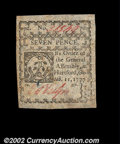 Colonial Notes:Connecticut, Connecticut October 11, 1777 7d Choice New, Canceled. A ...
