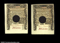 Colonial Notes:Connecticut, Connecticut March 1, 1780 20s Gem New, Canceled. These two ...