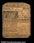 Colonial Notes:Delaware, Delaware June 1, 1759 20s Very Fine. The corners are quite ...