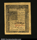 Colonial Notes:Delaware, Delaware January 1, 1776 18d Superb Gem New. Jumbo margins ...