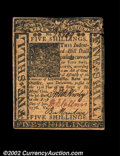 Colonial Notes:Delaware, Delaware January 1, 1776 5s Very Choice New. A near-Gem ...
