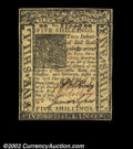 Colonial Notes:Delaware, Delaware January 1, 1776 5s Very Choice New. This closely ...