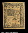 Colonial Notes:Delaware, Delaware January 1, 1776 6s Superb Gem New. Broad, even ...