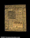 Colonial Notes:Delaware, Delaware January 1 1776 6s New. Closely margined all ...