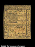 Colonial Notes:Delaware, Delaware January 1, 1776 6s Choice About New. A well ...
