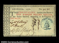 Colonial Notes:Georgia, Georgia 1776 $1 Choice About New. A magnificent piece of ...