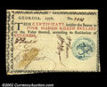 Colonial Notes:Georgia, Georgia 1776 $4 Choice About New. A spectacular piece of ...