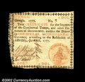 Colonial Notes:Georgia, Georgia June 8, 1777 $1 Choice Very Fine. This is the ...